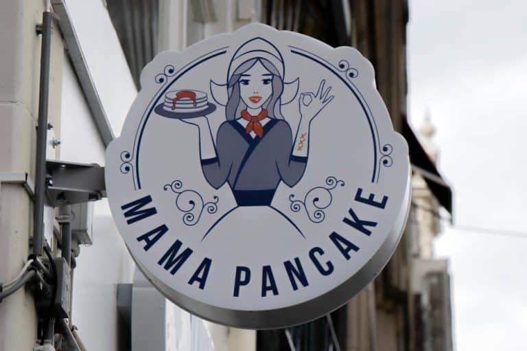 Billboard Mama Pancake At Amsterdam The Netherlands